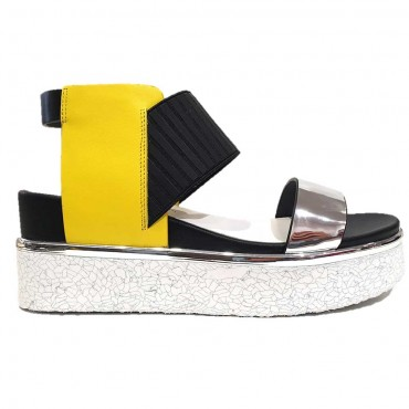 UNITED NUDE RICO SANDAL YELLOW MIX COW