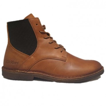 KICKERS Bottillon TITI ORANGE CAMEL