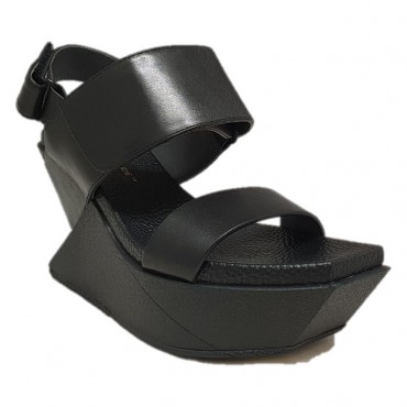 UNITED NUDE Nu-pieds DELTA WEDGE BLACK GASC RODEZ