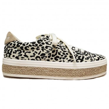 No Name Malibu Sneaker Leopard Dove