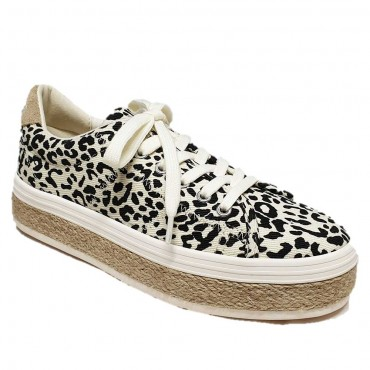 No Name Malibu Sneaker Leopard Dove